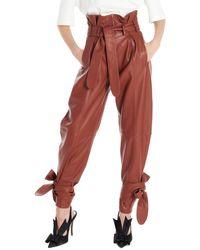 The Attico Pantalone pelle - Marrone