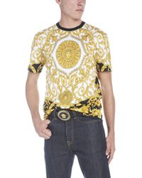 Versace - T-shirt stampa barocco - Lyst