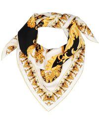 Versace 'barocco' Foulard - Metallic