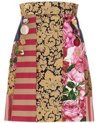 Dolce & Gabbana - Gonna patchwork - Lyst