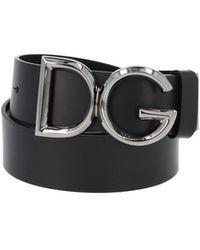 Dolce & Gabbana Cintura fibbia logo - Nero