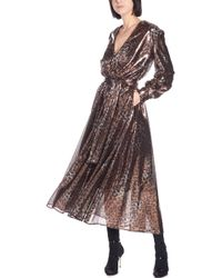 MSGM - Belted Leopard Sequinned Dress - Lyst