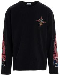 Rhude T-shirt 'Neon flame' - Multicolore