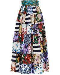 Dolce & Gabbana Gonna stampa all-over - Multicolore