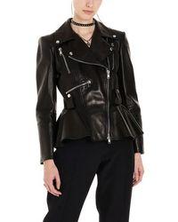 Alexander McQueen 'peplum' Croped Jacket - Black