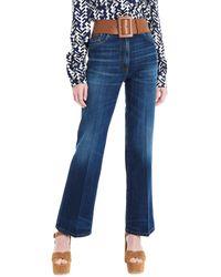 Prada Wide Leg Dark Indigo Jeans - Blue