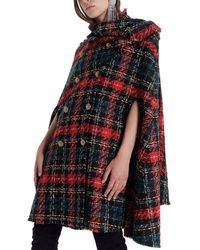 Balmain Tartan Tweed Cape - Multicolor