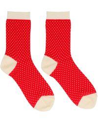 Undercover Polka Dots Socks - Red