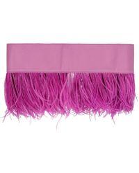 The Attico Feather Belt - Purple