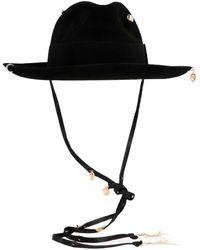 Ruslan Baginskiy Cappello 'Piercing fedora hat' - Nero