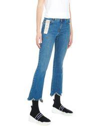 Stella McCartney - Scalopped Hem Jeans - Lyst