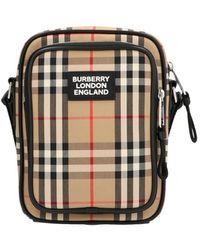 """Burberry Borsa """"freddie"""" In Tela Check - Multicolore"""