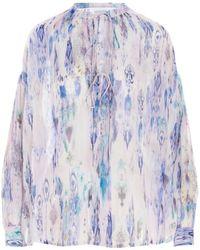 IRO Camicia seta all-over - Blu