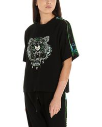 KENZO - 'tiger' Crepe T-shirt - Lyst