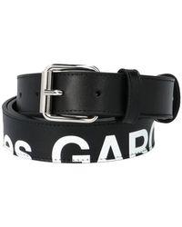 Comme des Garçons 'huge Logo' Belt - Black