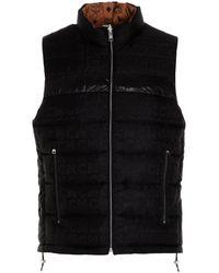 MCM ' Collection' Reversible Sleeveless Jacket - Black