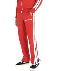 Palm Angels 'classic Track' Sweatpants - Red