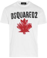 DSquared² T-shirt stampa logo - Bianco