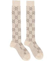 Gucci 'GG' Socks - Natural