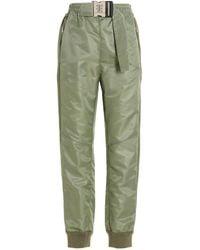 Ermanno Scervino Belted Joggers - Green