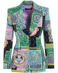 Versace Blazer 'Barocco' - Verde