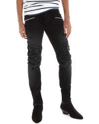 Balmain Jeans biker - Nero