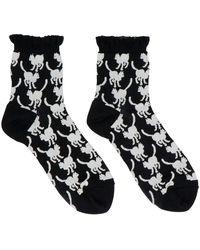 Undercover Cats Socks - Black
