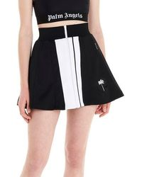 Palm Angels 'track' Mini Skirt - Black