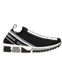 Dolce & Gabbana Miami Sneakers In Calfskin Nappa - Nero