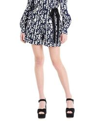Prada 'pattern' Poplin Shorts - Blue