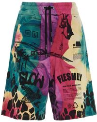 Mauna Kea Tie-dye Cotton Bermuda Shorts - Multicolour