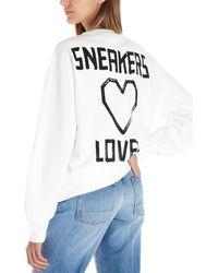Golden Goose Deluxe Brand 'nicole' Oversize Sweatshirt - White