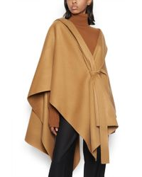 Theory Hooded Poncho - Natural