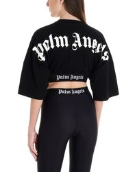 Palm Angels T-shirt crop - Nero