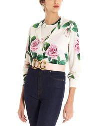 Dolce & Gabbana Cardigan a stampa floreale - Multicolore