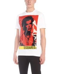 DSquared² - Contrast Print T-shirt - Lyst