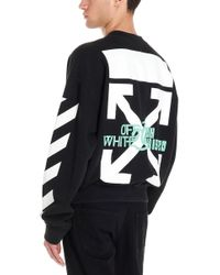 Off-White c/o Virgil Abloh 'waterfall' Sweatshirt - Black