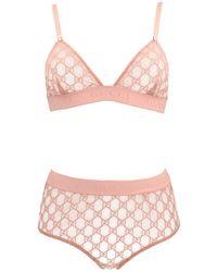 Gucci Set lingerie 'GG' - Rosa