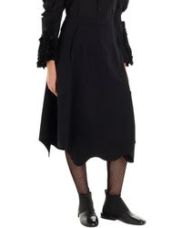 Comme des Garçons Asymmetric Skirt - Black