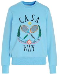 CASABLANCA 'casaway Tennis Club' Sweatshirt - Blue