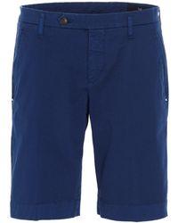 Entre Amis Four-pocket Bermuda Shorts - Blue