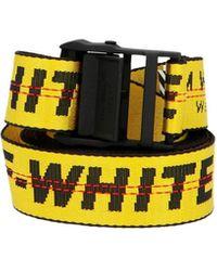Off-White c/o Virgil Abloh Cintura 'Industrial belt' - Giallo