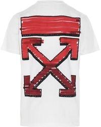 Off-White c/o Virgil Abloh T-shirt 'Marker' - Rosso
