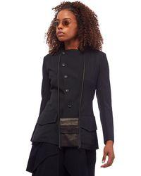 Yohji Yamamoto Black Gabardine Flap Jacket