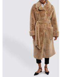Alexandre Vauthier Beige Faux Fur Coat - Natural
