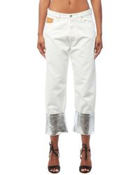 Paco Rabanne Silver Trim White Jeans
