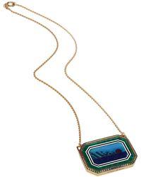 Venyx Moonscape Necklace - Blue