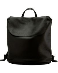 The Row - Black Leather Knapsack - Lyst
