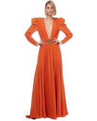 Dundas - Orange Deep V-neck Gown - Lyst