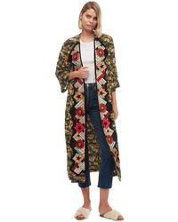 Chufy Orix Embroidered Long Robe - Multicolor